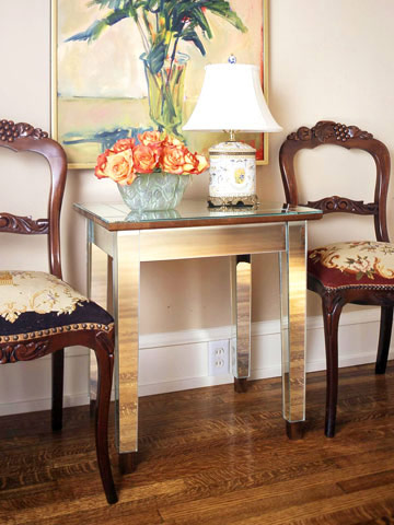 Handcraft a mirrored Art Deco style table.  Photo: decorpad.com