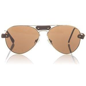 Leather-trimmed sunglasses by Chloe