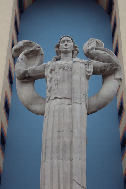 One of the Art Deco sculputures that highlight the expo buildings.