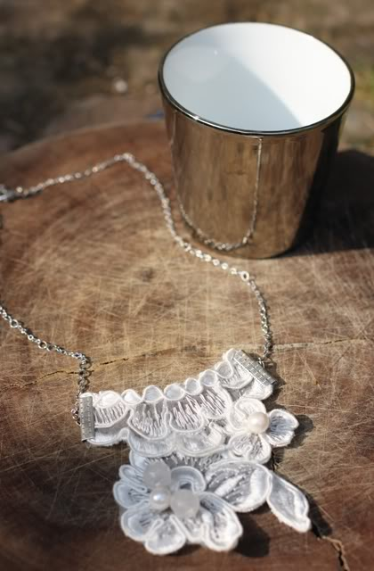 Beaded lace necklace.  Photo:  mypreciousconfessions.blogspot.com