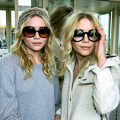Olsen Twins, pictured here in giant Chanel shades