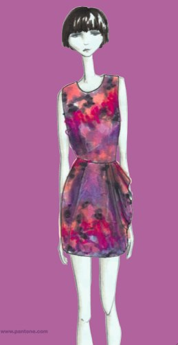 Mixed in with other colors in a beautiful print--love the lavendar!